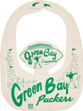 Football Collectibles:Others, 1940's Green Bay Packers Souvenir Visor from The Glen Christensen Collection. ...