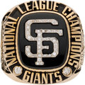 Baseball Collectibles:Others, 2002 San Francisco Giants National League Championship Ring in Original Box Presented to Willie McCovey from The Willie McCove...