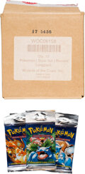 Memorabilia:Trading Cards, Pokémon Unlimited Base Set Booster Packs Distributors Case (Wizards of the Coast, 1999). ...
