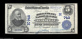 National Bank Notes:Wisconsin, Janesville, WI - $5 1902 Plain Back Fr. 598 The Rock ...