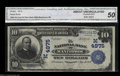 National Bank Notes:Wisconsin, Manitowoc, WI - $10 1902 Plain Back Fr. 631 The NB of ...