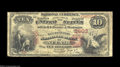 National Bank Notes:Wisconsin, Neenah, WI - $10 1875 Fr. 420 The Manufacturers NB Ch. ...