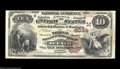 National Bank Notes:Wisconsin, Neenah, WI - $10 1882 Brown Back Fr. 490 The National ...