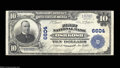 National Bank Notes:Wisconsin, Oshkosh, WI - $10 1902 Plain Back Fr. 624 First NB Ch. ...