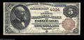 National Bank Notes:Wisconsin, Portage, WI - $5 1882 Brown Back Fr. 471 The First NB ...