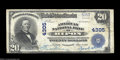 National Bank Notes:Wisconsin, Ripon, WI - $20 1902 Plain Back Fr. 653 The American NB