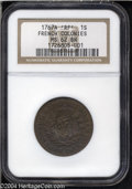 Colonials: , 1767-A 9DEN French Colonies Copper Sou MS62 Brown NGC. ...