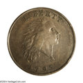 Large Cents: , 1793 Chain 1C AMERICA AU55 PCGS. S-2, High R.4. This ...