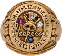 1955 New York Yankees American League Championship Ring Presented to Mickey Mantle