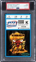 Basketball Collectibles:Others, 1996 NBA Finals Game Six Ticket Stub Signed by Michael Jordan (UDA)--Only Signed Example Known!...