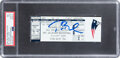 Football Collectibles:Tickets, 2001-02 Tom Brady Signed New England Patriots vs. Oakland Raiders Divisional Playoff Full Ticket (The Tuck Rule Game), PSA EX ...