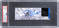 """Football Collectibles:Tickets, 2000 Tom Brady Signed New England Patriots vs. Detroit Lions Full Ticket with """"NFL Debut"""" Inscription, Autograph Gem Mint 10 -..."""