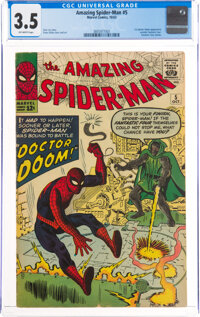 The Amazing Spider-Man #5 (Marvel, 1963) CGC VG- 3.5 Off-white pages