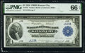 Low Serial Number J123A Fr. 737 $1 1918 Federal Reserve Bank Note PMG Gem Uncirculated 66 EPQ