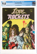 Magazines:Humor, Love and Rockets #1 (Fantagraphics Books, 1982) CGC VF/NM 9.0 White pages....