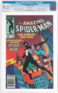 Modern Age (1980-Present):Superhero, The Amazing Spider-Man #252 Newsstand Edition (Marvel, 1984) CGC NM- 9.2 White pages....