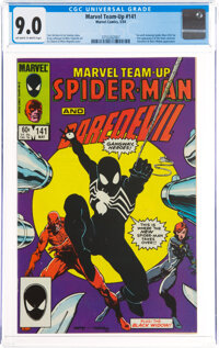Marvel Team-Up #141 Spider-Man and Daredevil (Marvel, 1984) CGC VF/NM 9.0 Off-white to white pages