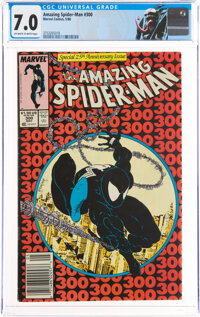 The Amazing Spider-Man #300 Newsstand Edition (Marvel, 1988) CGC FN/VF 7.0 Off-white to white pages