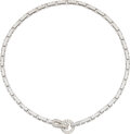 Estate Jewelry:Necklaces, Cartier Diamond, White Gold Necklace, French ...