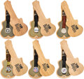Music Memorabilia:Memorabilia, The Beatles Set of Six Watches in Guitar shaped Case With Tags (6) (1990s). ...