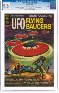 UFO Flying Saucers #1 File Copy (Gold Key, 1968) CGC NM+ 9.6 Off-white to white pages