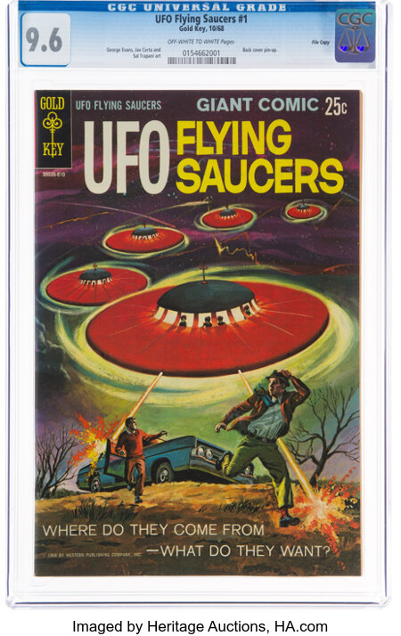 UFO Flying Saucers #1 File Copy (Gold Key, 1968) CGC NM+ 9.6 Off-white to white pages....