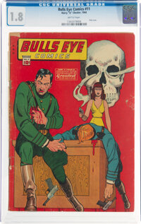 Bulls-Eye Comics #11 (Harry 'A' Chesler, 1944) CGC GD- 1.8 Brittle pages