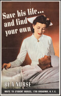 """Movie Posters:War, World War II Propaganda (U.S. Government Printing Office, 1943). Folded, Very Fine. OWI Poster No. 49 (14"""" X 22"""") """"Save His ..."""
