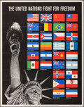 """Movie Posters:War, World War II Propaganda (U.S. Government Printing Office, 1942). Folded, Very Fine+. OWI Poster No. 19 (22"""" X 28"""") """"The Unit..."""