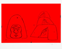 Barry McGee (b. 1966) Untitled, 2020 Screenprint in colors on Coventry Rag paper 16 x 20 inches (