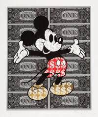 Ben Allen (b. 1979) Monster Mickey (Gold Leaf Shoes), 2020 Giclée print in colors on Fine Art textured paper with...