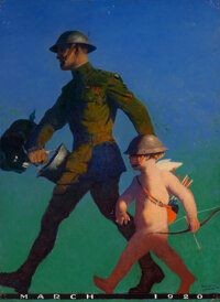 Frank Spradling (American, 1885-1972) Marching Forward, Everybody's Magazine cover, March 1920 Oil o