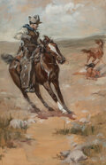 Paintings, John Norval Marchand (American, 1875-1921). The Fall. Watercolor and gouache on board. 26 x 17 inche...