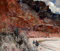 Paintings, Fremont F. Ellis (American, 1897-1985). Echo Cliffs--Tanner Wash. Oil on canvas. 25 x 30 inches (63....