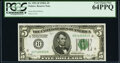 Fr. 1951-H $5 1928A Federal Reserve Note. PCGS Very Choice New 64PPQ