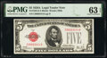 Small Size:Legal Tender Notes, Fr. 1526 $5 1928A Legal Tender Note. PMG Choice Uncirculated 63 EPQ.. ...