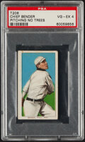 Baseball Cards:Singles (Pre-1930), 1909-11 T206 Sweet Caporal 350/25 Chief Bender (Pitching, No Trees) PSA VG-EX 4....