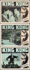 """Movie Posters:Horror, King Kong (RKO, R-1952). Overall: Fine+ on Paper. Lobby Cards (3) (11"""" X 14""""). Horror.. ... (Total: 3 Items)"""
