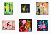 Gary Baseman X Mark Ryden X Tim Biskup Hello (set of 6), 2002 Archival pigment prints in color on wove paper 12 x 12