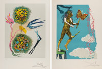 Salvador Dali (1904-1989) Madam butterfly & the dream (two works), 1978 Lithographs in colors on Arc... (Total: 2)