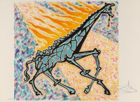 Salvador Dali (1904-1989) Le Girafe en Feu, from Le Jungle Humaine, 1976 Lithographs in colors on Arches paper 18