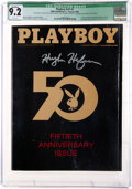 Movie/TV Memorabilia:Memorabilia, Playboy #v51 #1 Signed by Hugh Hefner (HMH Publishing, 2004) CGC Qualified NM- 9.2 With White Pages. ...