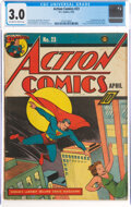 Golden Age (1938-1955):Superhero, Action Comics #23 (DC, 1940) CGC GD/VG 3.0 Off-white to white pages....