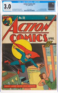 Action Comics #23 (DC, 1940) CGC GD/VG 3.0 Off-white to white pages