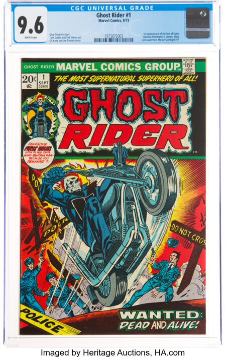 Ghost Rider #1 (Marvel, 1973) CGC NM+ 9.6 White pages....