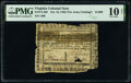Virginia October 16, 1780 (For Clothing the Army) $1,000 PMG Very Good 10