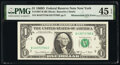Error Notes:Mismatched Serial Numbers, Mismatched Serial Numbers Error Fr. 1907-B $1 1969D Federal Reserve Note. PMG Choice Extremely Fine 45 EPQ.. ...