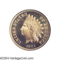 Proof Indian Cents: , 1861 1C PR65 Cameo PCGS. While many 1861 proof cents only ...