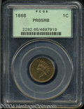 Proof Indian Cents: , 1868 1C PR65 Red and Brown PCGS. Fully struck with lovely ...