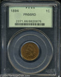 Proof Indian Cents: , 1894 1C PR66 Red PCGS. Even and bright orange-red color ...